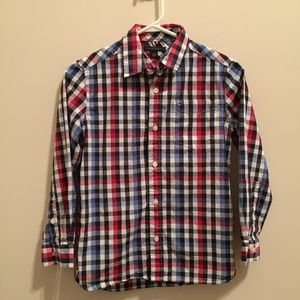 Tommy Hilfiger Boy's Plaid Button-Up Shirt Size M